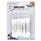 Wholesale Footwear 6PC. WHITE SHOE LACES 2PC. 24IN 2PC. 28IN 1PC. 35IN 1PC. 43