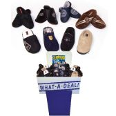 Wholesale Footwear MENS FLEECE SLIPPERS ASSORTED STYLES + SIZES