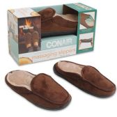 Wholesale Footwear MENS BRWN MASSAGING CONAIR SLIPPERS SIZE 8-10.5