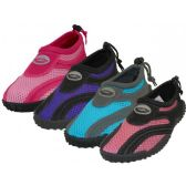 "Wholesale Footwear Women's ""Wave"" Aqua Socks in Assorted Colors"