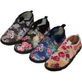 "Wholesale Footwear Women's Floral Printed ""wave"" Water Shoes"