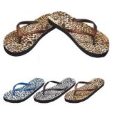 Wholesale Footwear Ladies Flip Flaps--Cheetah Prints