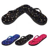 Wholesale Footwear Ladies Flip Flaps--Stars