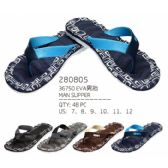 Wholesale Footwear Mans Assorted Color Flip Flops