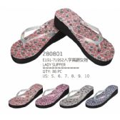 Wholesale Footwear Womans Printed Flop Assorted Colors