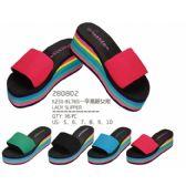 Wholesale Footwear Womans Rainbow Colored Flip Flop