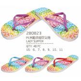Wholesale Footwear Womans Printed Flip Flop
