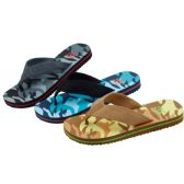 Wholesale Footwear Mans Camo Printed Flip Flop (Assorted Colors)
