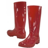 Wholesale Footwear 13.5 Inches Women's Rain Boots Red