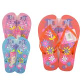 Wholesale Footwear Women's Printed Floral Flip Flop Sizes 5-10