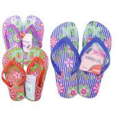 Wholesale Footwear Girl's Floral Print Flip Flop