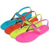 Wholesale Footwear Women's Sandal with Gold Trim