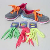 Wholesale Footwear 4asst Color Bright Neon Shoelaces