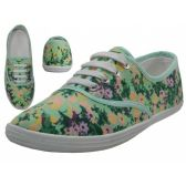 Wholesale Footwear Women's Print Canvas Shoes ( *Daisy Floral Printed )