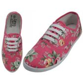 Wholesale Footwear Women's Canvas Lace Up Floral Print