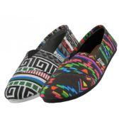 Wholesale Footwear Women's Canvas Printed Canvas Slip On Aztec Print Only
