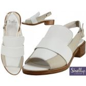 "Wholesale Footwear Women's Leather Loafer With 1 1/2 "" Heel Sandals By Shellys London"