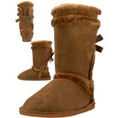 Wholesale Footwear Wholesale 11 Inches Shaft Women's Micro Fiber Faux Fur Lining Boots