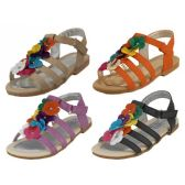 Wholesale Footwear Wholesale Children's Multi Colors Flower Top Sandals