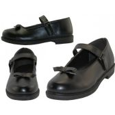 Wholesale Footwear Wholesale Girl's Black Mary Jane School shoes