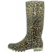 Wholesale Footwear Women's Leopard Printed Rain Boots
