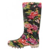 Wholesale Footwear Women's 13.5 Inches Water Proof Rubber Rain Boot