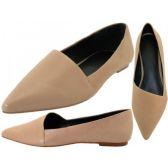 Wholesale Footwear Woman Leather Skimmer Ballet Flat
