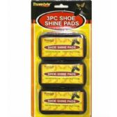 Wholesale Footwear 3pc Shoe Shine Pads 4x2.5x1.6 in