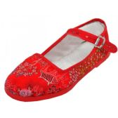 Wholesale Footwear Girls' Brocade Mary Janes ( Red Color Only)