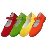 Wholesale Footwear Girls' Cotton Mary Jane Shoes Assorted Neon Color Only