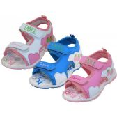 Wholesale Footwear Girl's Velcro Sport Sandals