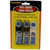Wholesale Footwear 3PIECE LIQUID SHOE POLISH (25ml)