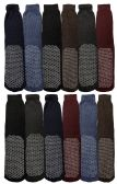 Wholesale Footwear Yacht & Smith Non Slip Gripper Bottom Men's Winter Thermal Tube Socks Size 10-13