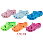 Wholesale Footwear Ladies' Garden Shoes Fuchsia, Aqua Blue, Green, Orange, Pink, Lt. Blue