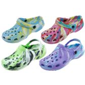 Wholesale Footwear Ladies Tie Dye Garden Shoes Assorted Color