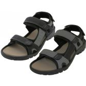 Wholesale Footwear Men's Double Velcro Pu Sandals