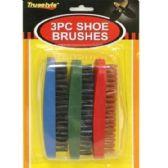 Wholesale Footwear 3PC SHOE BRUSHES 5X2x1.8 IN