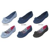 Wholesale Footwear GIRLS DENIM BALLET FLATS WITH BOW