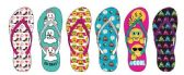Wholesale Footwear EXPRESSION AND ICON PRINTED FLIP FLOPS