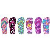 Wholesale Footwear Girls Assorted Printed Flip Flops