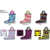 Wholesale Footwear TODDLER GIRLS PRINTED RAINBOOTS