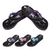Wholesale Footwear Ladies Platform Flip-Flops--Double Butterfly