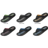 Wholesale Footwear BOYS FLIP FLOP WITH STRIPPED FOOTBED