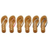Wholesale Footwear GIRLS BRAIDED GLITTER SANDALS WITH PRINTED FOOTBED