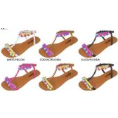 Wholesale Footwear GIRLS POM POM SANDALS
