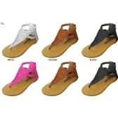 Wholesale Footwear GIRLS EMBOSSED SNAKE NUBUCK SANDALS WITH BRAIDED STRAPS