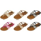 Wholesale Footwear GIRLS THONG SANDAL WITH CROCHET DETAIL VAMP