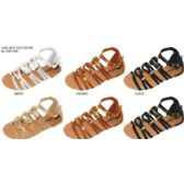 Wholesale Footwear GIRLS GLADIATOR SANDAL WITH HARDWARE EMBELLISHMENTS