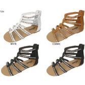 Wholesale Footwear GIRLS PU EMBELLISHED GLADIATOR SANDAL