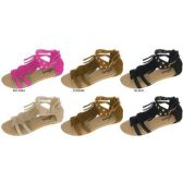 Wholesale Footwear GIRLS MICROSUEDE GLADIATOR SANDAL WITH FRINGE AND STUDS
